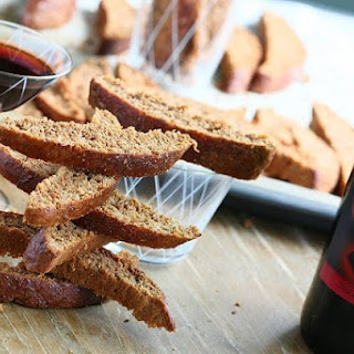 Red Wine Whole Wheat Spelt Biscotti
