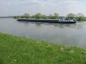 Photo: Day 21 - Large Barge Working on the Moselle