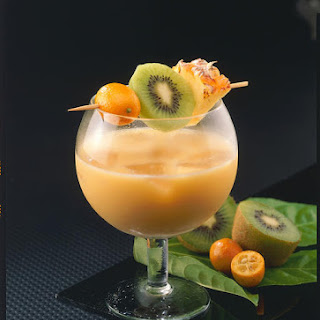 Coconut and Tropical Fruit Cocktail.