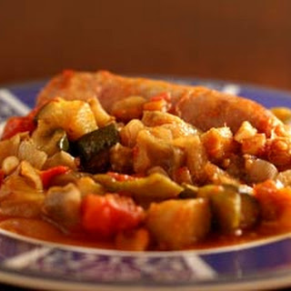 Italian Sausages with Ratatouille.