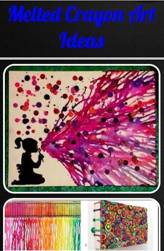 熔化的蠟筆藝術想法