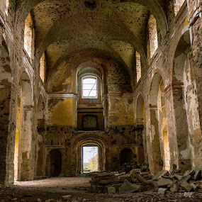 The temple of destruction by Martin Namesny - Buildings & Architecture Decaying & Abandoned ( temple, church, destroyed, sad, mysterious, destruction, tabernacle, deserted, decay )