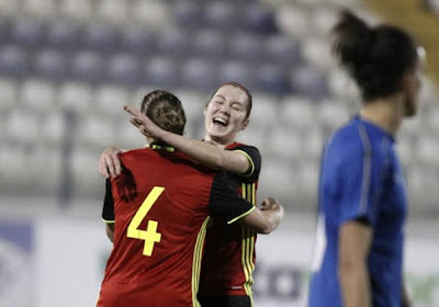 Elien Van Wynendaele scoorde voor de Belgian Red Flames tegen Italië