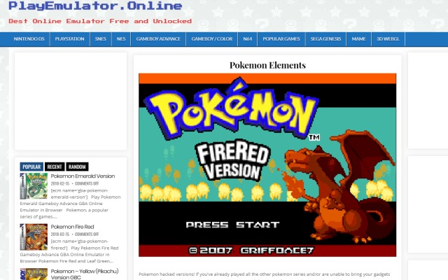 all pokemon games to play free