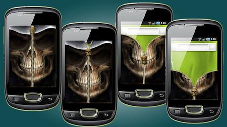 Skull Zip Screen Lock 1.0 screenshot 253517