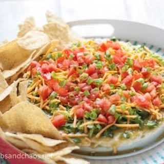 Salsa Verde Taco Dip.