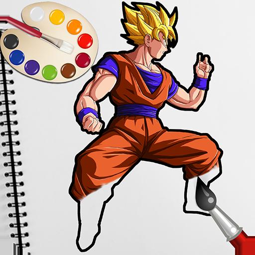 Goku Saiyan Superhero Coloring Games for Kids