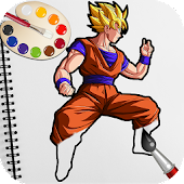 Goku Saiyan Superhero Coloring Games for Kids