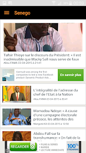 Senego: News in Senegal - screenshot thumbnail