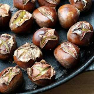 Oven Roasted Chestnuts with Spiced Melted Butter.