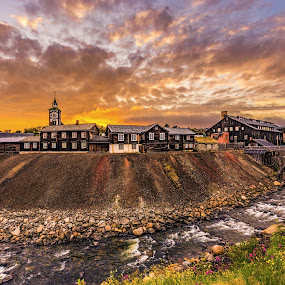 Late summer eve in Røros, Norway by Grete Øiamo - Landscapes Sunsets & Sunrises