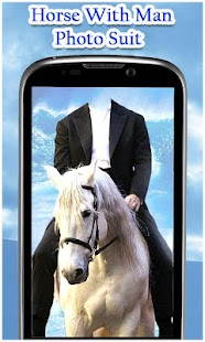 Horse With Man Photo Suit HD - náhled