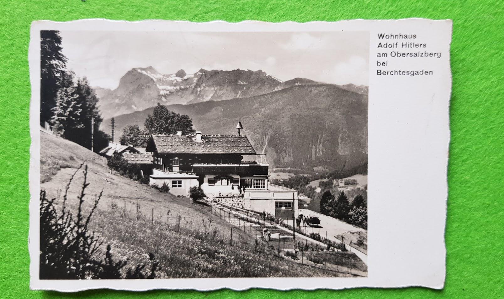 Postkarte vom Wohnhaus Adolf Hitlers am Obersalzberg bei Berchtesgaden 16. Juni 1934