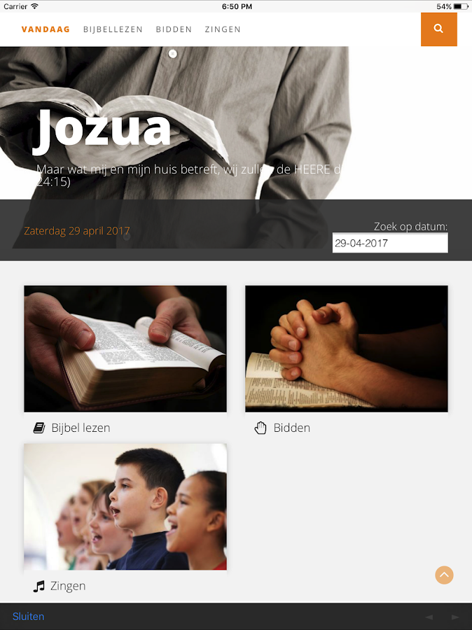 Jozua- screenshot