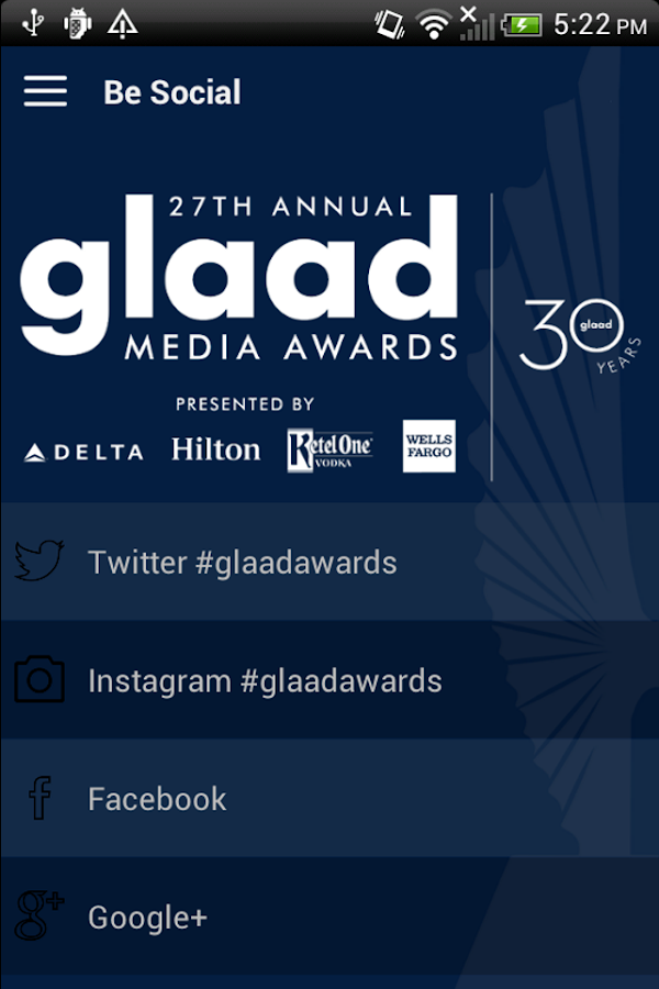 GLAAD Media Awards- screenshot