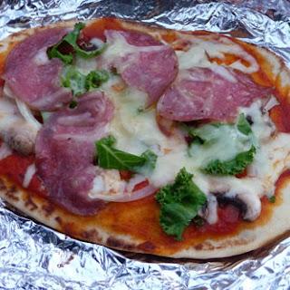 Campfire Flatbread Pizza.