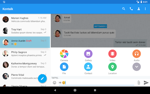 Kontalk Messenger Screenshot