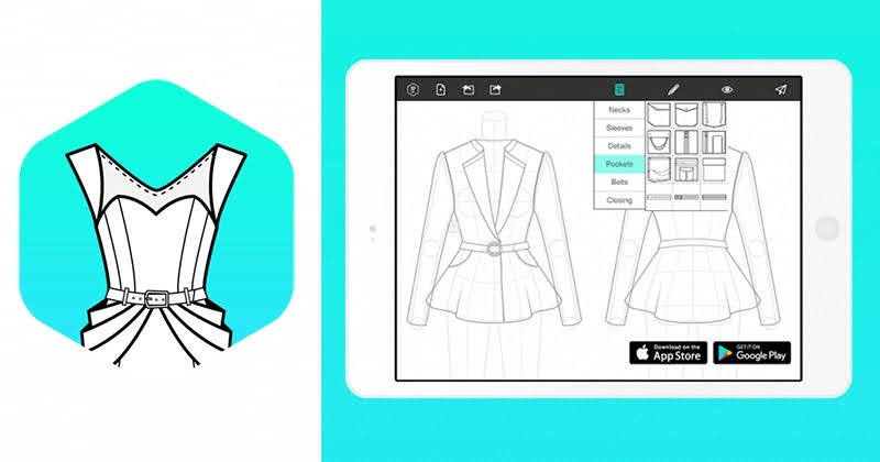 Fashion Design Flat Sketch t-shirt design