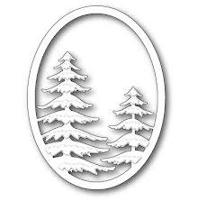 Memory Box Die - Snowy Pine Oval