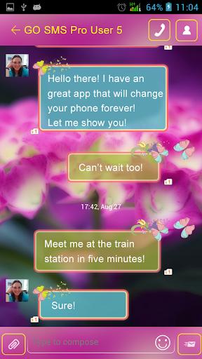 GO SMS Flower Garden