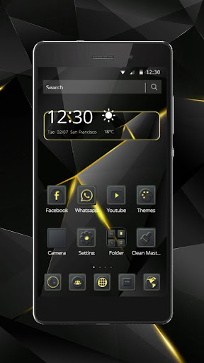 Black Luxury Theme for Huawei screenshot 1
