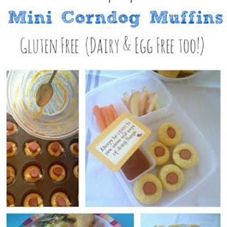 Gluten Free (Dairy & Egg Free) Mini Corn Dog Muffins