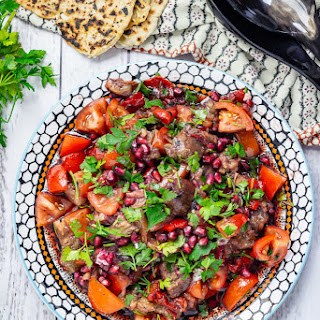 Smoky Aubergine Salad with Red Pepper Recipe