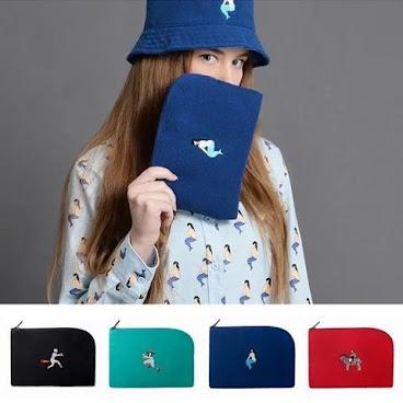 可愛韓風四色iPad mini 袋  預定款