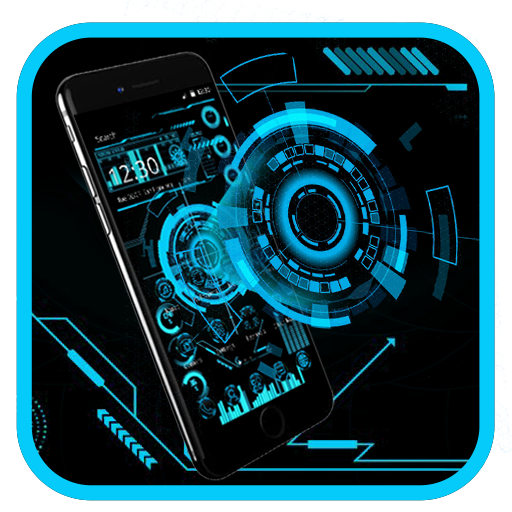Technology Neon Blue