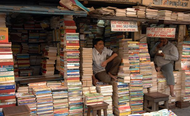 Image result for india market book stall