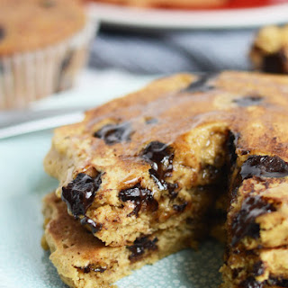 The Best Oatmeal Chocolate Chip Pancakes.