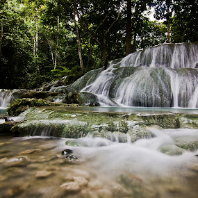 Panas Water Falls by Marlon Diwata - Landscapes Waterscapes