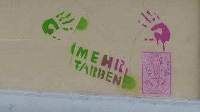 """Photo: Stencil; Unknown Artist: """"Ganesh"""""""
