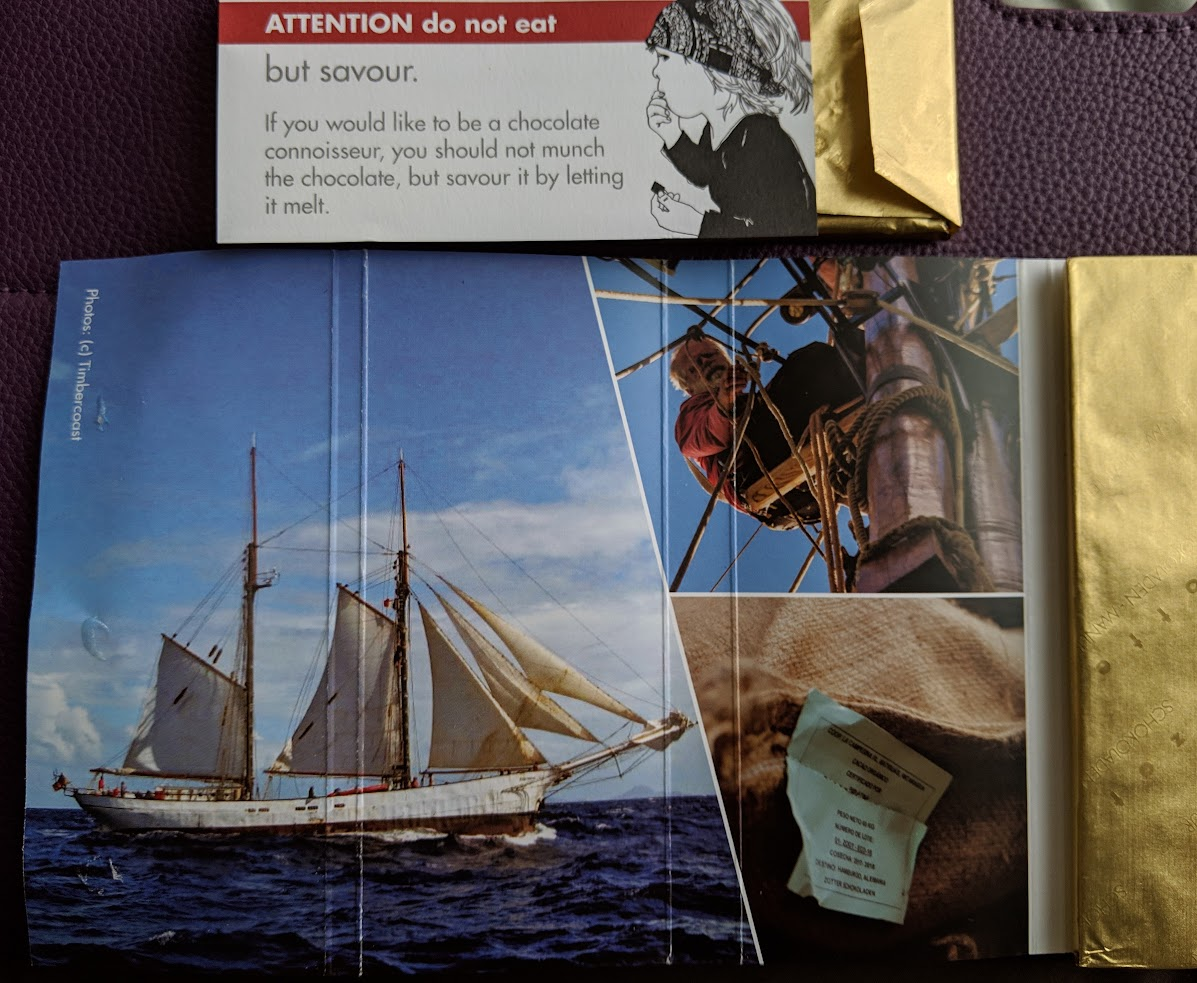 70% nicaragua sail shipped bar by zotter