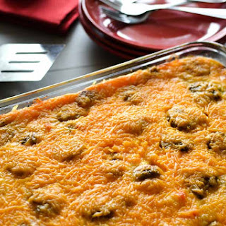 Healthy, Make-Ahead Sausage and Egg Breakfast Casserole.