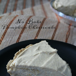 No Bake Pumpkin Cheesecake - Only 6 Ingredients Recipe