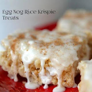 Egg Nog Rice Krispie Treats.