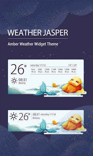 Cute weather forecast clock wi