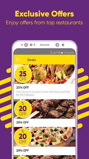 Otlob - Food Delivery app (apk) free download for Android/PC/Windows screenshot