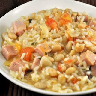 Risotto con Fagioli or Ham and White Bean Risotto