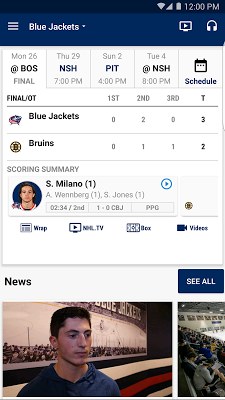 Columbus Blue Jackets - screenshot