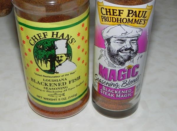 Get out your blackened seasonings or make your own.  Heat up your grill or your...