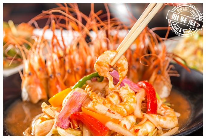 新凱門複合式釣蝦場泰式涼拌蝦
