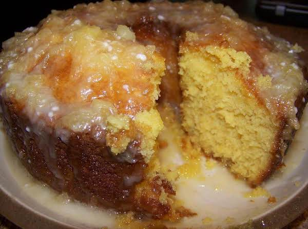 Pineapple Cake With Pineapple Glaze