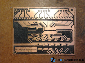 Photo: Toner transfered to the PCB