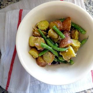 Warm Garlic Potato Salad
