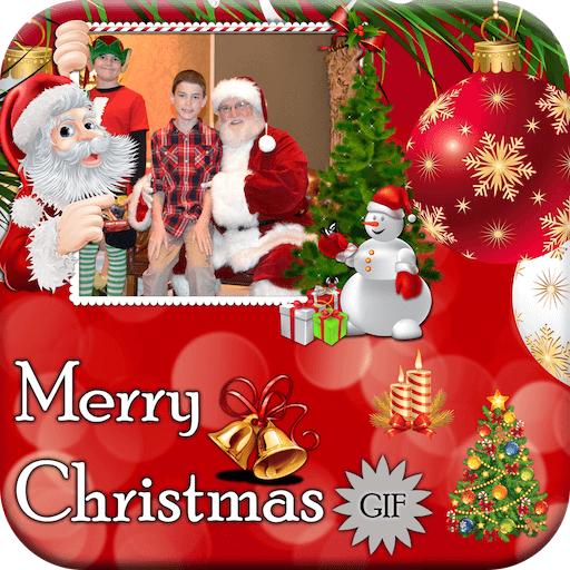 merry christmas gif photo frame christmas editor
