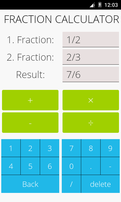 Fractions Math- screenshot