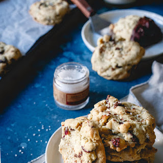 Orange Infused Cranberry Almond Chocolate Chip Cookies.
