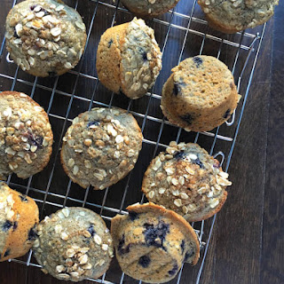Blueberry Oatmeal Muffins {Wyman's}